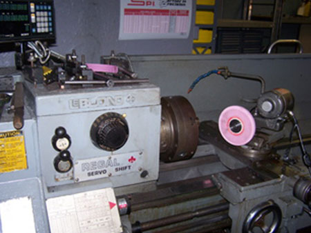 Conventional Lathe Close Up